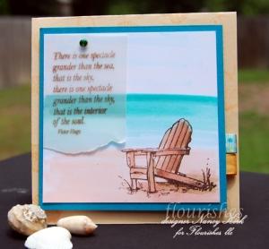 beach life copic card