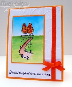 cottage home flower soft card